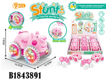 9PCS FRICTION PIG  W/LIGHT&SOUND