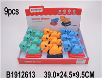 9PCS FRICTION DINOSAUR W/LIGHT&MUSIC