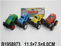 4PCS FRICTION POLICE CAR (4COLOURS)