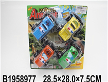 4IN1 FRICTION POLICE CAR(4COLOURS)