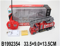 1:48 R/C FIRE ENGINE W/LIGHT&BATTERY&USB CHARGER(4CH)