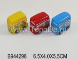 3PCS COLORED PULL BACK BUS