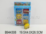 6PCS COLORED PULL BACK BUS