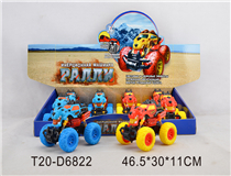 RUSSIAN 8PCS PULL BACK CAR W/LIGHT&MUSIC&BATTERY